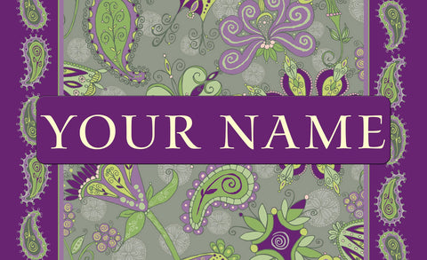 Passion Flower Personalized Mat Image