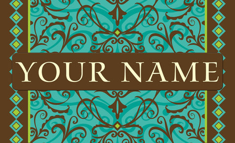 Damask Personalized Mat Image