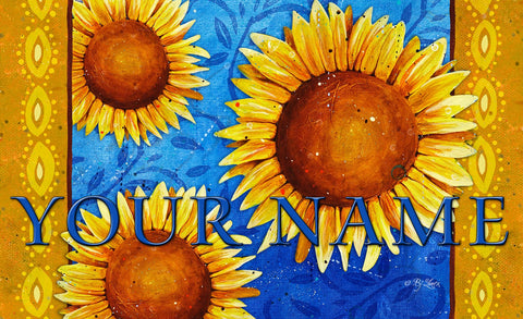Sweet Sunflowers Personalized Mat Image