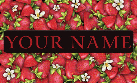 Strawberry Collage Personalized Mat Image