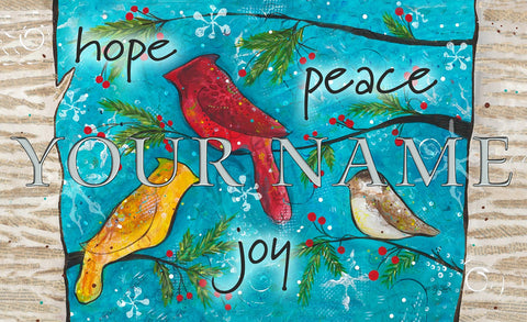 Peace Birds Personalized Mat Image