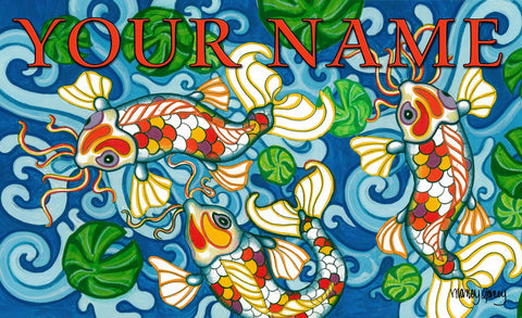 Coy Koi Personalized Mat Image
