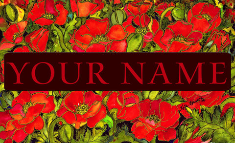 Red Poppies Personalized Mat Image