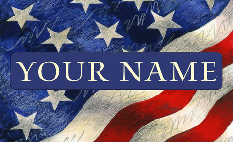 StarSpangled Banner Personalized Mat Image