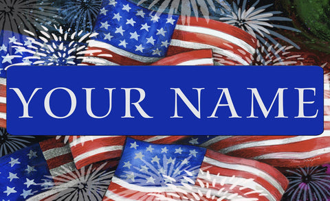 Sparkling Old Glory Personalized Mat Image