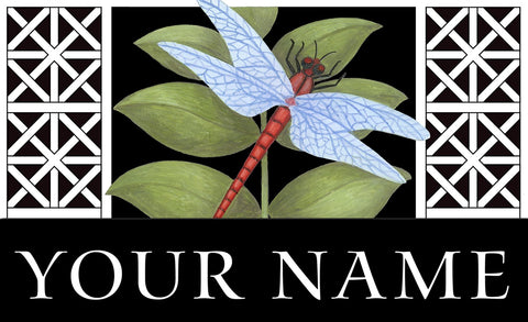 Dragonfly On Black Personalized Mat Image