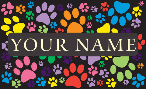 Puppy Paws Personalized Mat Image