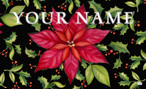 Poinsettia Personalized Mat Image