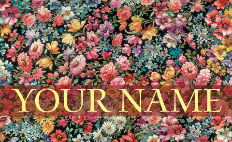 Flower Foray Personalized Mat Image
