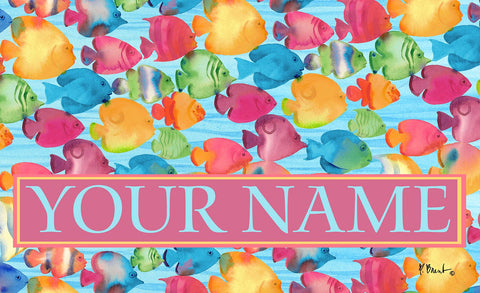 Fabulous Fishes Personalized Mat Image