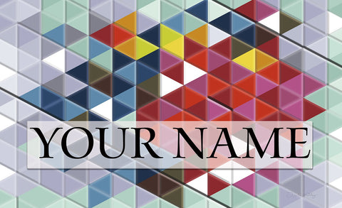 Prism Party Personalized Mat Image
