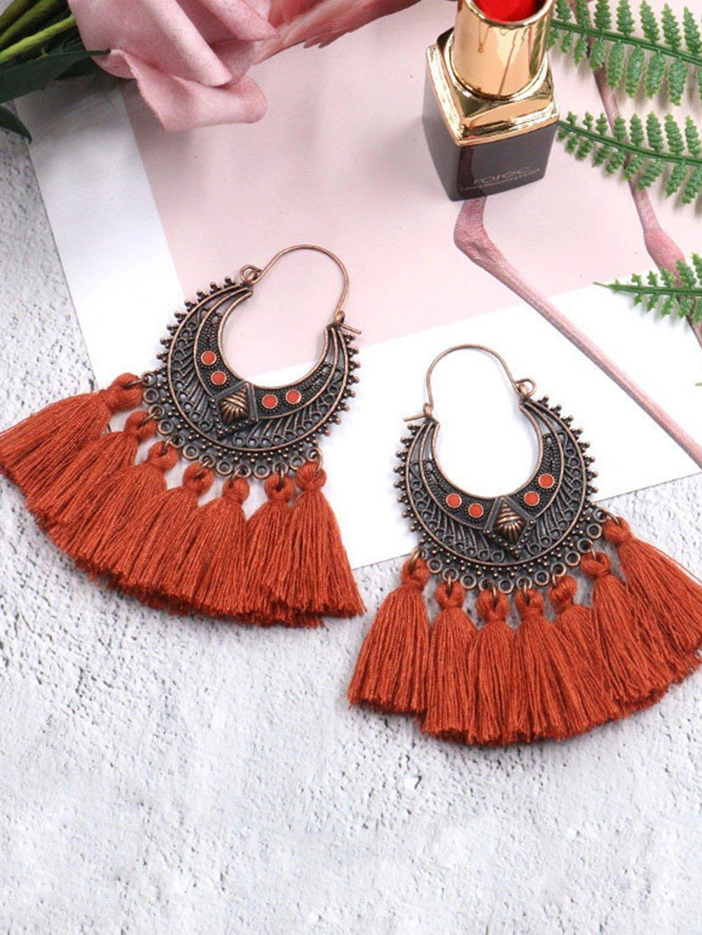 Iztzo Women Bohemia Tassels Earrings