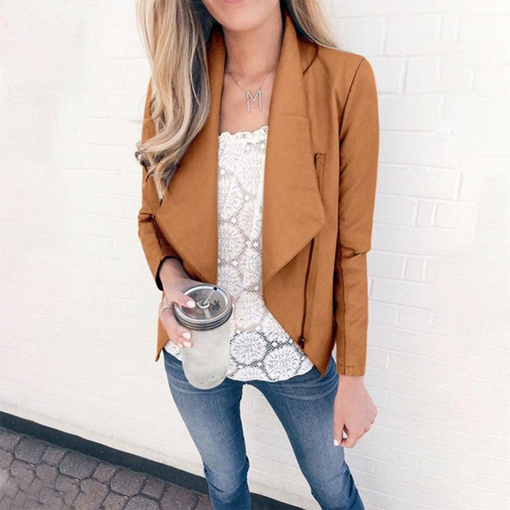 Casual Long Sleeve Asymmetrical Plain Coat