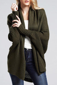 Loose Batwing Long Sleeve Cardigan