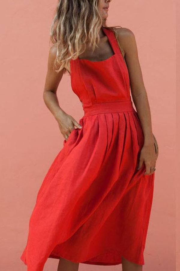 Iztzo Back Less Bow Strap Dress