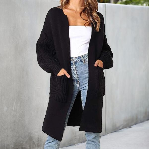 Iztzo Long Sleeve Casual Basic Cardigan