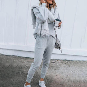 Iztzo Chic Long Sleeve Sweater Two-Piece Set
