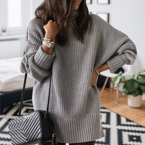 Iztzo Classy High Neck Long Sleeve Sweater