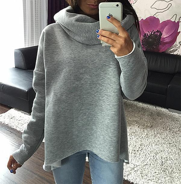 Iztzo Bat Sleeve Irregular Sweatshirt