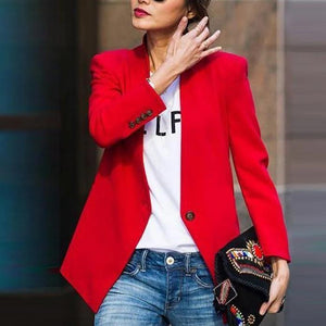 Iztzo Fashion Solid Color Jacket Suit Blazer