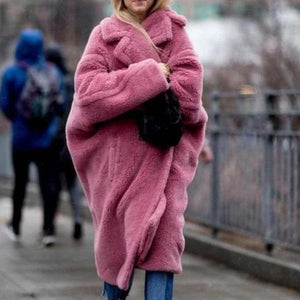 Iztzo Fashion Pink Long Sleeve Oversized Coat