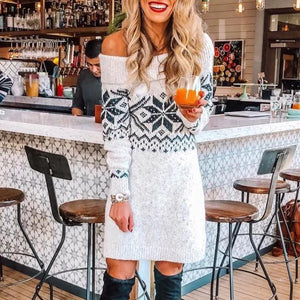 Iztzo Elegant Off The Shoulder Long Sleeve Mini Dress
