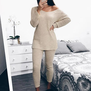 Iztzo Long Sleeve Casual Casual Two-Piece Set