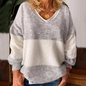 Iztzo Casual Plus Size Long Sleeve Sweater