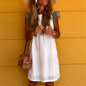 Iztzo Floral-Print Sleeveless Boho Mini Dress