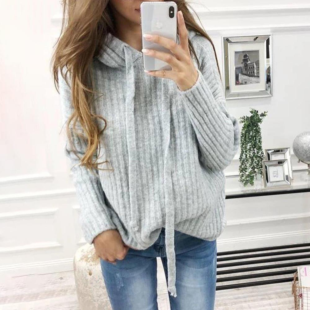 Ultra Soft Hooded Long Sleeve Sweatershirt