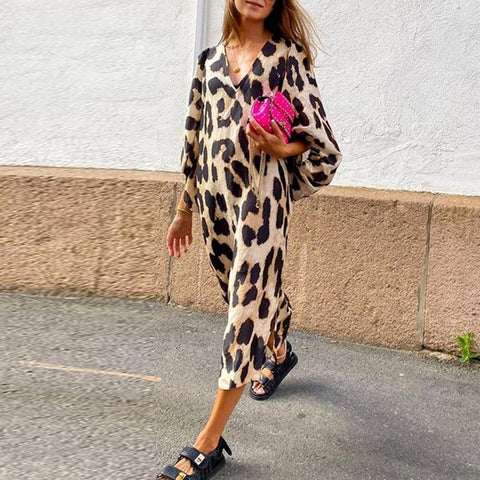 Iztzo Wild Woman Leopard Print Dress