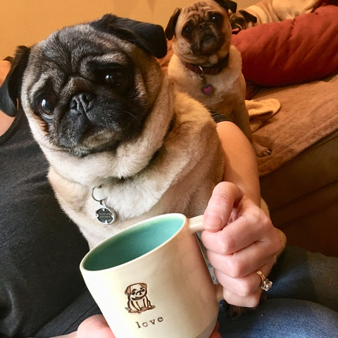 Pug, Pug mug, custom mug, personalized mug, coffee mug