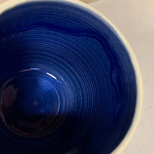 a custom mug with cobalt blue interior upgrade