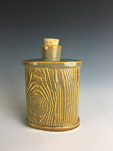 pottery woodsman's flask
