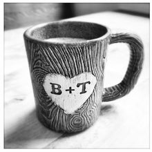 Load image into Gallery viewer, Woodgrain, MorningWood Mug with customizable text (made to order)