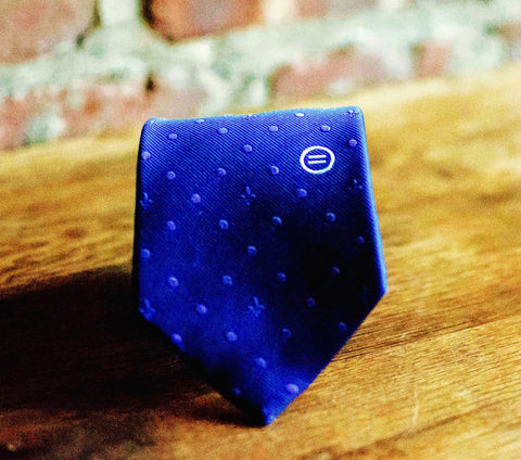 """Dr. Haynes Tonal Dotted"" Silk Tie"