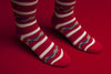 Wrap Around Stripe Sock (Red)
