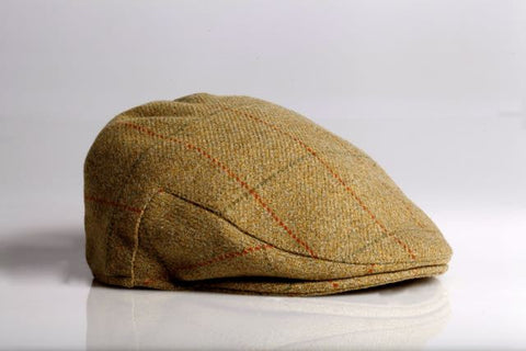 Tan Herringbone Wool Longshoreman Hat