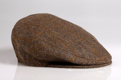 Brown Herringbone Wool Longshoremen