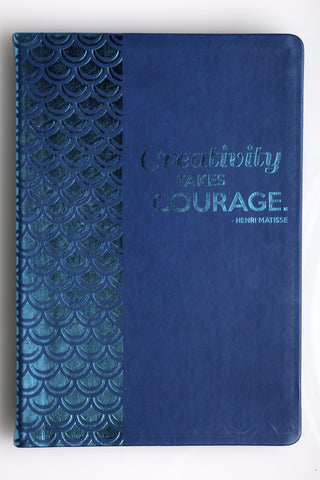 "Flexible Journal ""Creativity Takes Courage"""