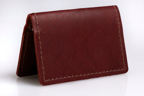 """Well Connected"" Business Card Holder (Burgundy)"