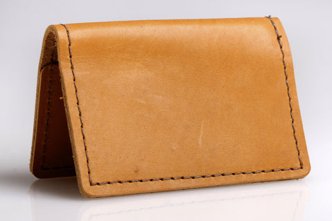"""Well Connected"" Business Card Holder (Buckskin)"