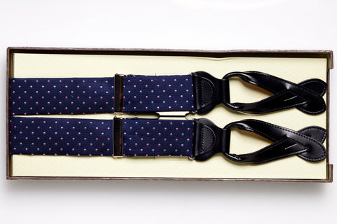 """Concord"" Silk Suspender (Navy)"