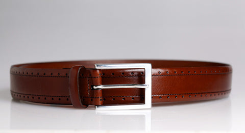 Chili Perforated Leather Belt