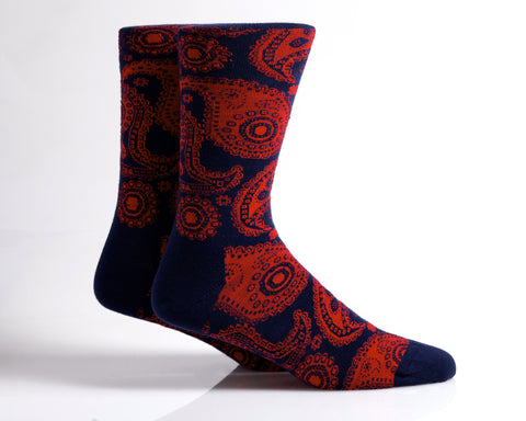 Paisley (Navy/Red)