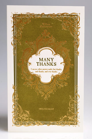 "English Lit ""Many Thanks"" Boxed Note Cards"