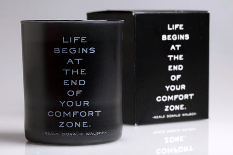 """Comfort Zone"" Quotable Candles"