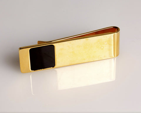 Gold & Onyx Money Clip