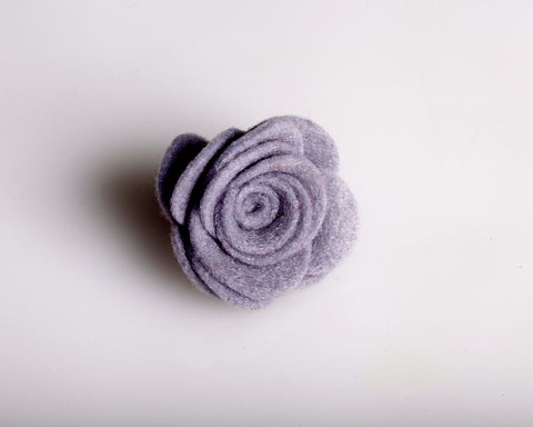 Grey Felt Lapel Rose