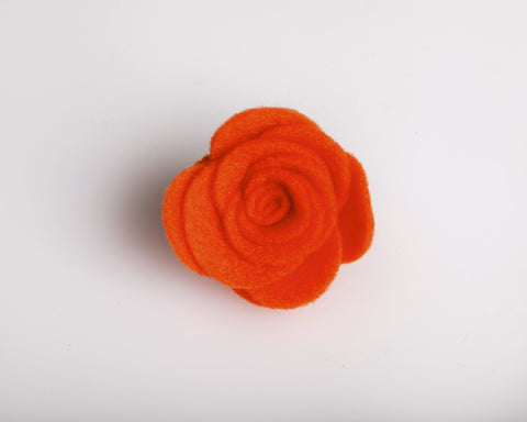 Orange Felt Lapel Rose